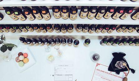 atelier de création de parfum - Galimard parfumeur à Grasse