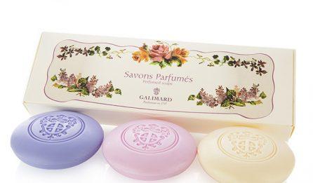 Coffret de 3 savonnettes fleurs de provence - Galimard parfumeur à Grasse