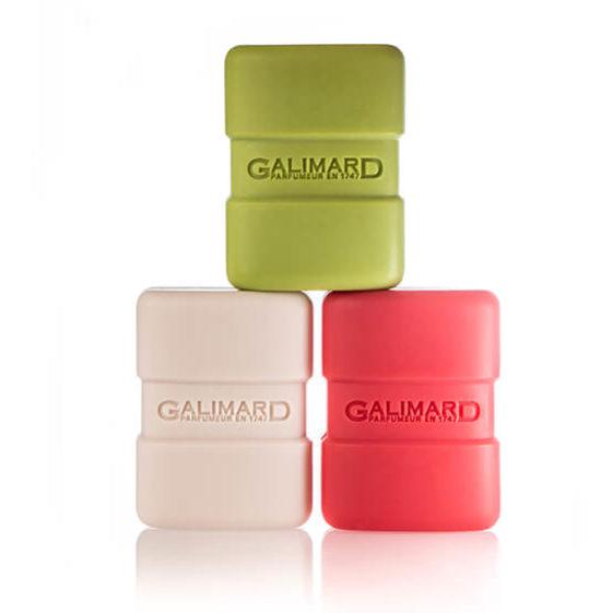 Photographie de 3 savons - Galimard, parfumeur à Grasse