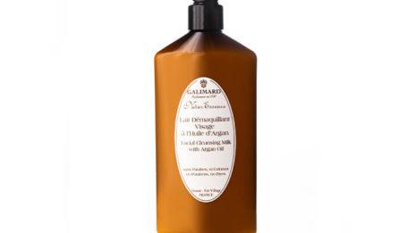 lait démaquillant à l'huile d'argan bio - Galimard, parfumeur à Grasse