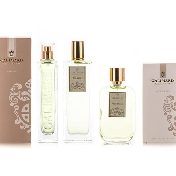 Parfumeur Galimard - gamme de parfum pele mele